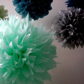 The Heathers... 5 tissue paper poms // birthday // anniversary // wedding reception // party decorations