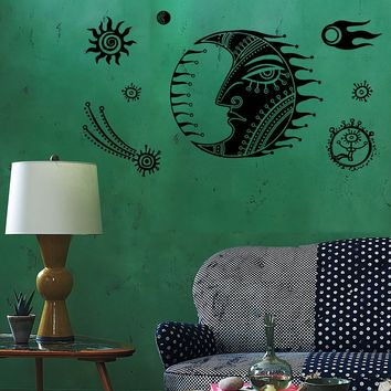 Wall Decal Moon Star Space Universe Comet Mural Vinyl Decal Unique Gift (z3158)