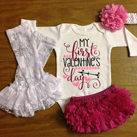 My first valentines day outfit, Newborn Valentines Day Outfit, Newborn Girl Valentine Outfit, Valentine Outfit , Baby Shower,