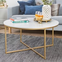Coffee Table with X - Base - Saracina Home