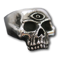 Unisex Classic Skull Ring with Third Eye