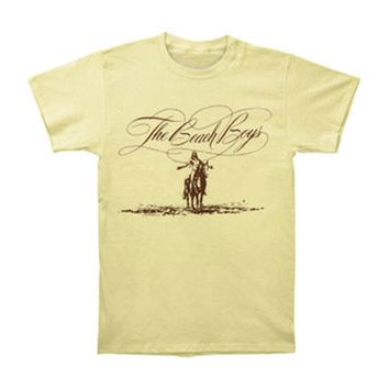 Beach Boys Men's  Script Logo Horse T-shirt Yellow