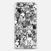 christmas dogs iPhone 6 case by Sharon Turner | Casetify