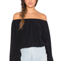 MLM Label Dash Off Shoulder Top in Black
