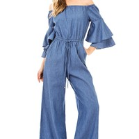 Fanfare Chambray Jumpsuit