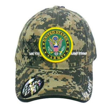 US ARMY STRONG LICENSED SEAL MILITARY DIGITAL CAMO HAT [Apparel]