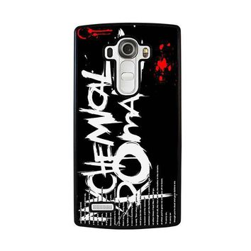 my chemical romance lyric lg g4 case cover  number 1
