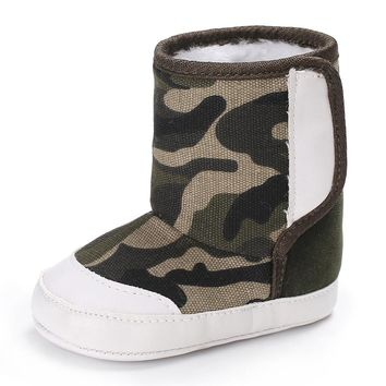 Camouflage boots Baby Winter shoes Soft Sole Snow Boots Soft Crib Shoes Toddler Boots drop ship