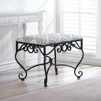 Marvelous Manor Elegance  Classic Chic Stool Decor