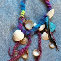 High Tide - Gypsy Mermaids Necklace made of Shells, textile and Yarn