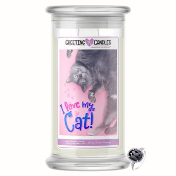 I Love My Cat | Jewelry Greeting Candle