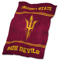 Arizona State Sun Devils NCAA UltraSoft Fleece Throw Blanket (84in x 54in)