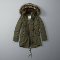 Sherpa-Lined Military Parka