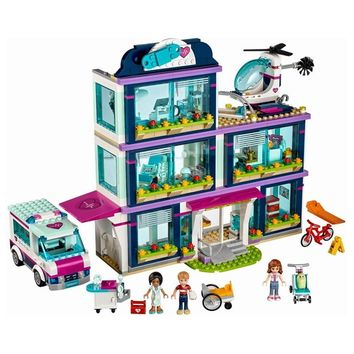 Heart Lake Love Hospital Girls legoings Friends Compatible With 41318 Series Building Blocks Toys For Children