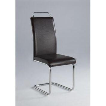 Chintaly Salma Modern Cantilever Side Chair With Handle In Chrome