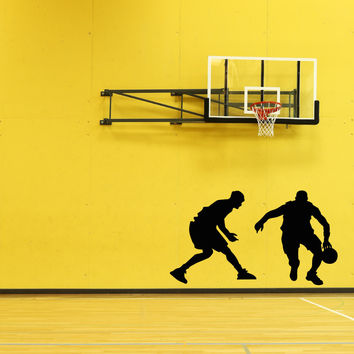 Vinyl Wall Decal Sticker Basketball Defense #OS_AA1185
