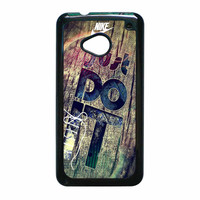 Nike Just Do It Wood HTC One M7 Case