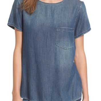 AG Megan Denim Pocket Tee | Nordstrom