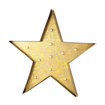 Star Marquee Sign Antique Yellow