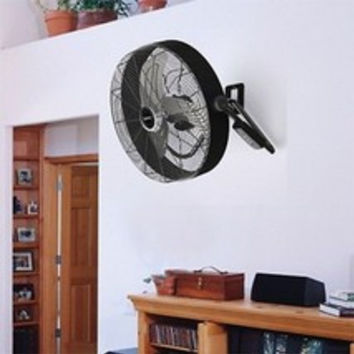 Industrial High Velocity Floor Fan w Remote Turbo Force Quick Mount