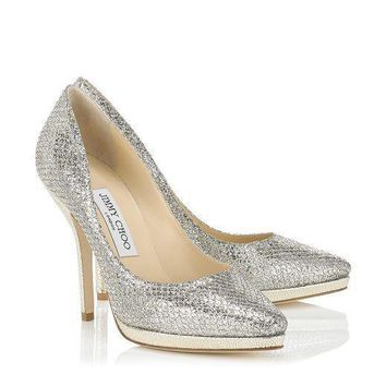 Jimmy Choo Women Fashion Sequins Heels Shoes-2