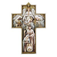 "12"" Nativity Cross - Plaque"