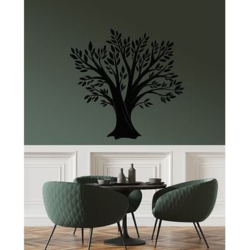 Vinyl Wall Decal Family Forest Tree Oak Leaves Kitchen Decor Stickers (3180ig)