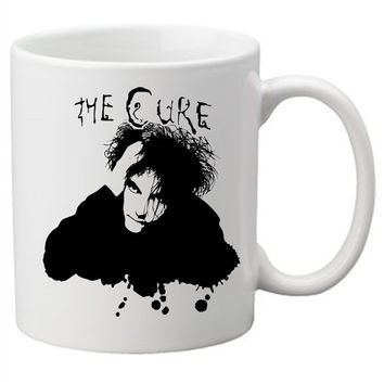 The Cure Coffee Mug. This is sure to make your mornings a little happier. Robert Smith