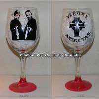 Boondock Saints inspired glass