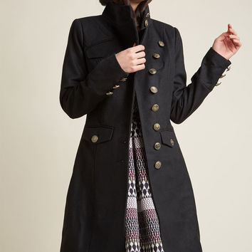 Simply Sophisticated Button-Up Coat