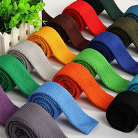 Shennaiwei Solid Ties For Men Knitted Tie