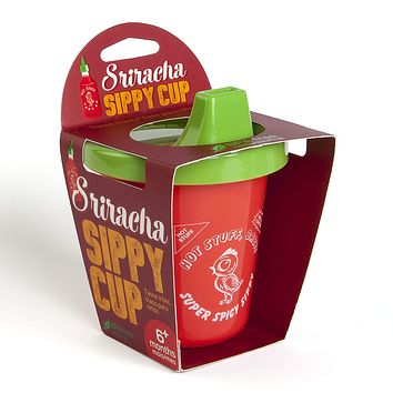 Sriracha Sippy Cup in Red and Green