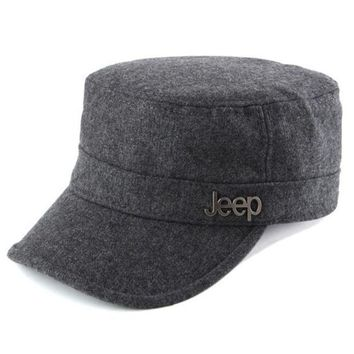VLXWZ9 Jeep Women Men Flat Cap Sun Peaked Cap Leisure Hat
