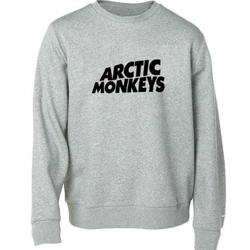 arctic monkeys logo sweater Gray Sweatshirt Crewneck Men or Women for Unisex Size with variant colour