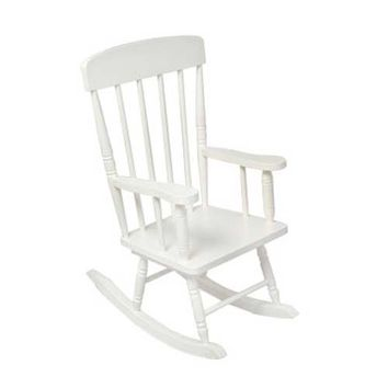 KidKraft 18301 White Spindle Rocking Chair