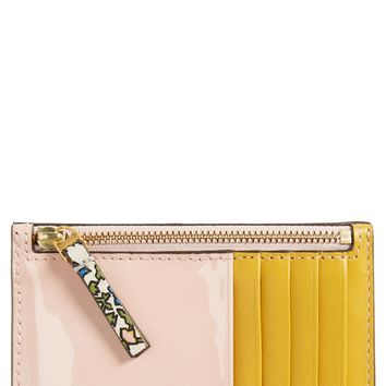 Tory Burch Colorblock Leather Card Case | Nordstrom