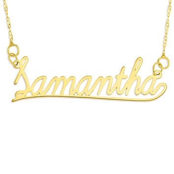 NAME NECKLACE LEARNING CURVE FONT - GOLD