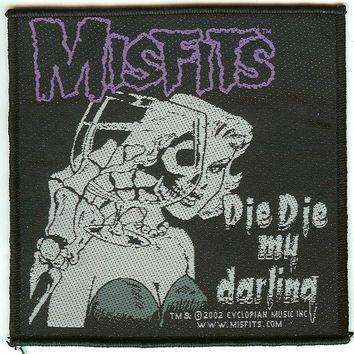 Misfits Sew On Patch Die Die My Darling Logo