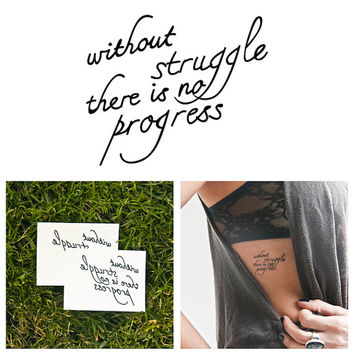 Progress - Temporary Tattoo (Set of 2)