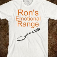 Emotional Range of a Teaspoon-Unisex White T-Shirt