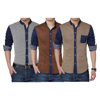 Two Tone Button Down Shirt