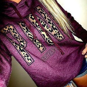 VONE05KC PINK Victoria's Secret Letter Print Hoodie Sweatshirt Top Sweater