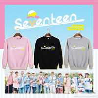 Youpop KPOP Korean Fashion SEVENTEEN 17 Member Very Nice Album Cotton Hoodies Clothing K-pop Pullovers Sweatshirts PT089
