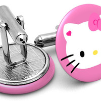 Hello Kitty Pink Cufflinks