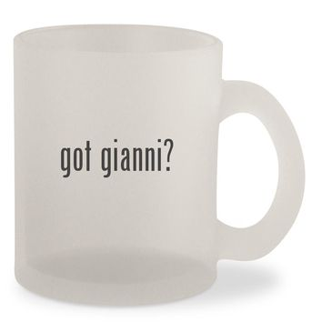 got gianni? - Frosted 10oz Glass Coffee Cup Mug