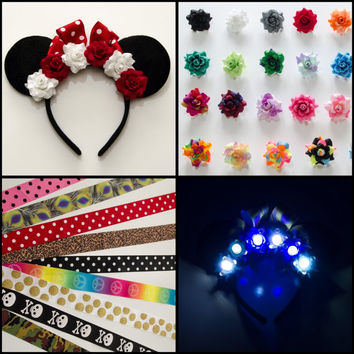 Customizable Mouse Ears Headband, LED Headband, Minnie Mouse Ears, Minnie Ears, Disney Bound, Disney Headband, Disney Cosplay, Disneyland