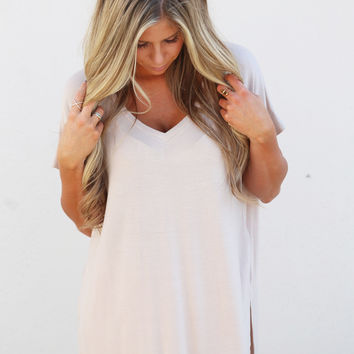Basically Perfect Tee {Taupe}