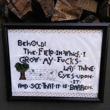 Behold! A Subversive Cross Stitch