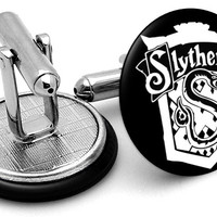 Harry Potter Slytherin House Cufflinks
