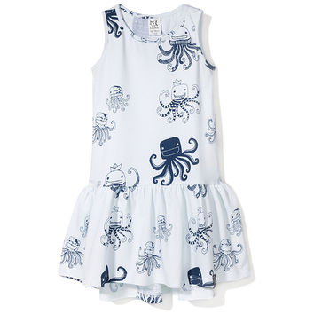 DRESS WHITE OCTOPUS